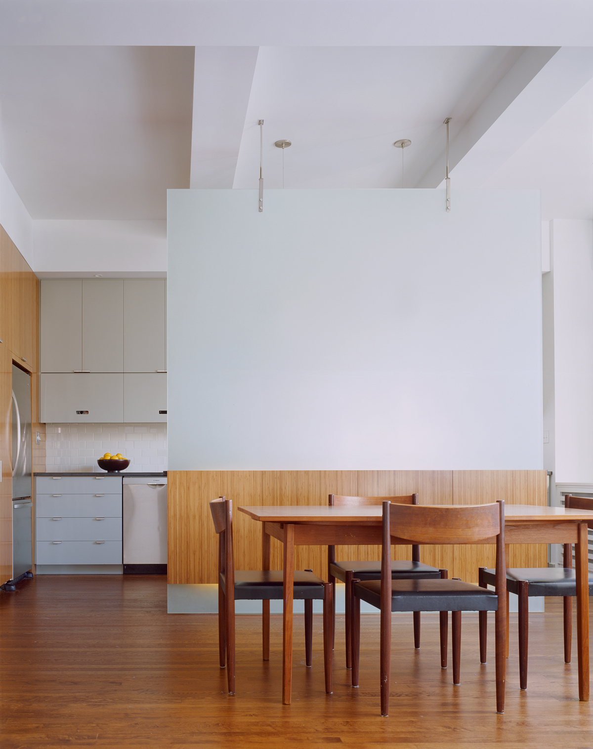 New York architects created translucent kitchen partition