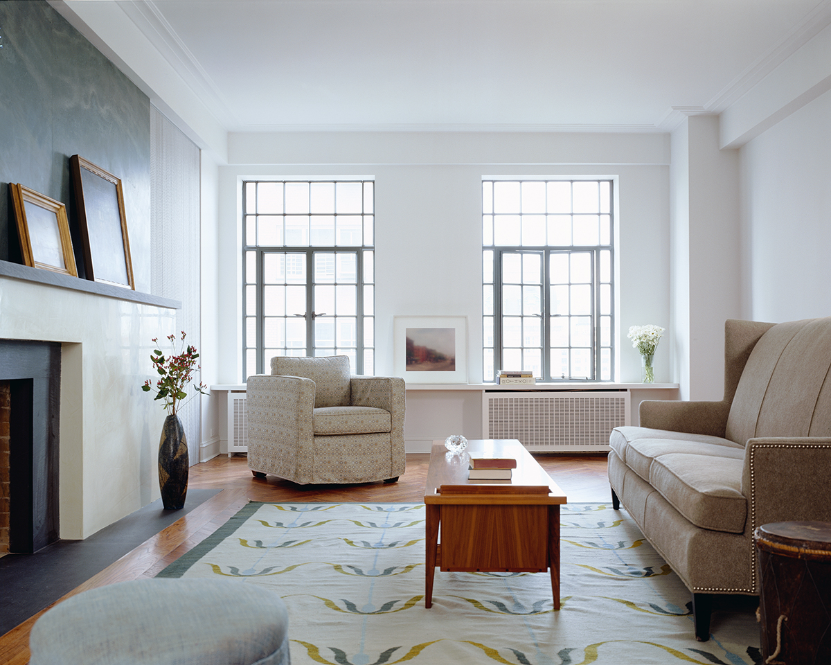 Central Park West apartment's dignity living room
