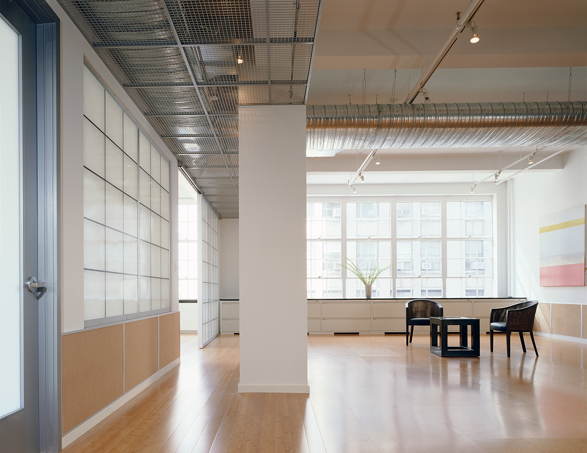 New York office renovation translucent panels