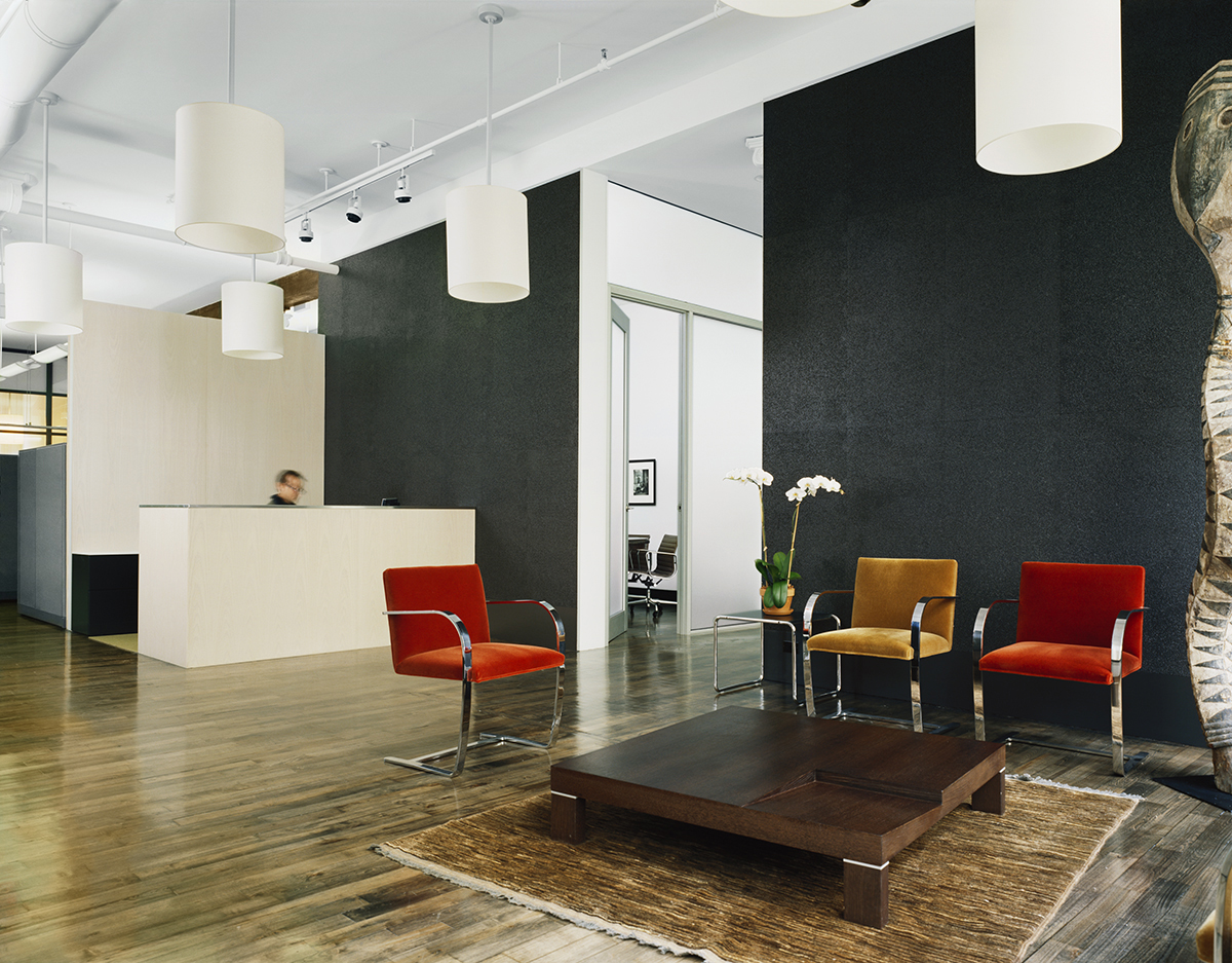 Soho offices reception space