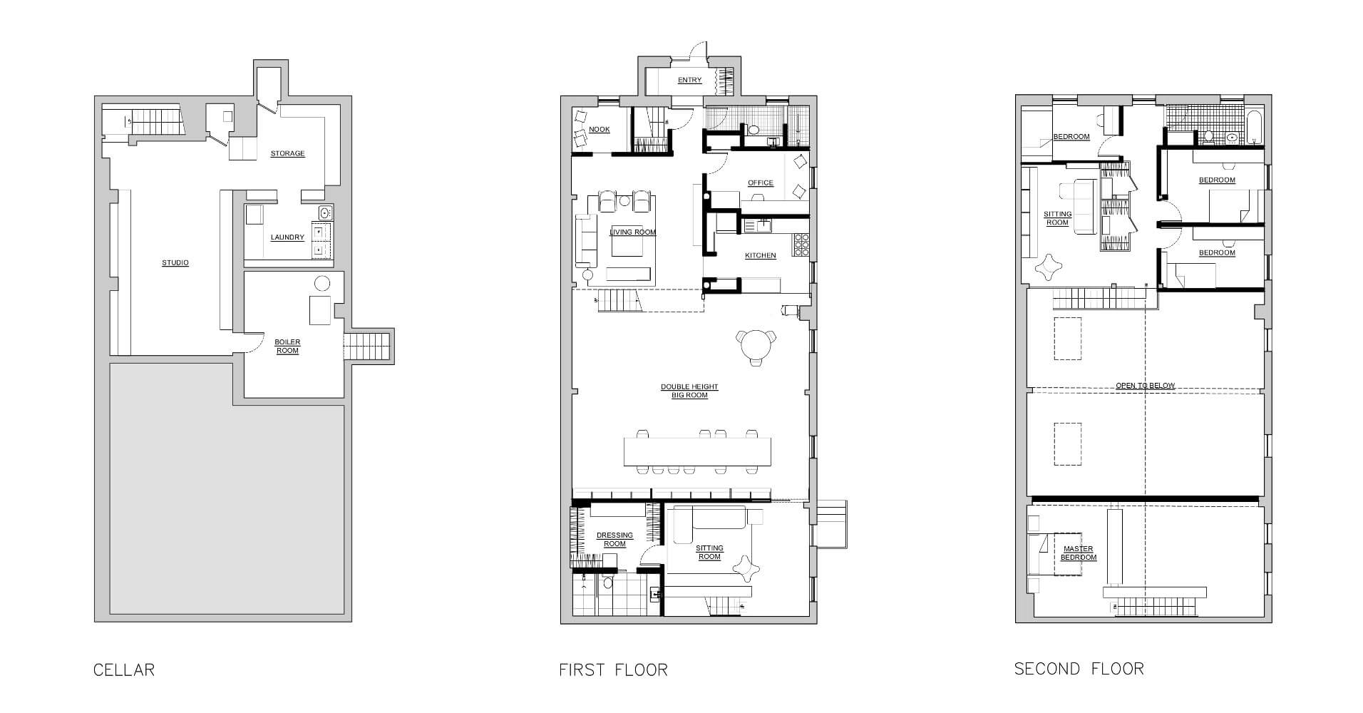 Boerum Hill house floorplans