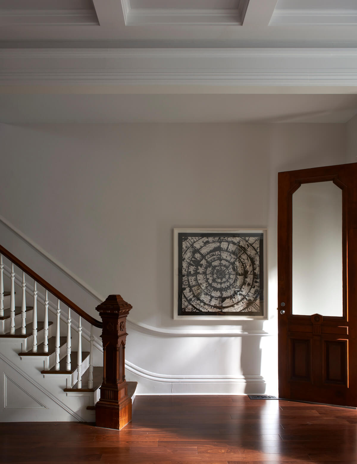 Foyer of large brownstone addition