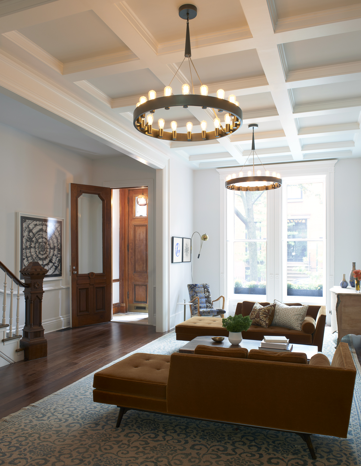 brooklyn heights brownstone living room