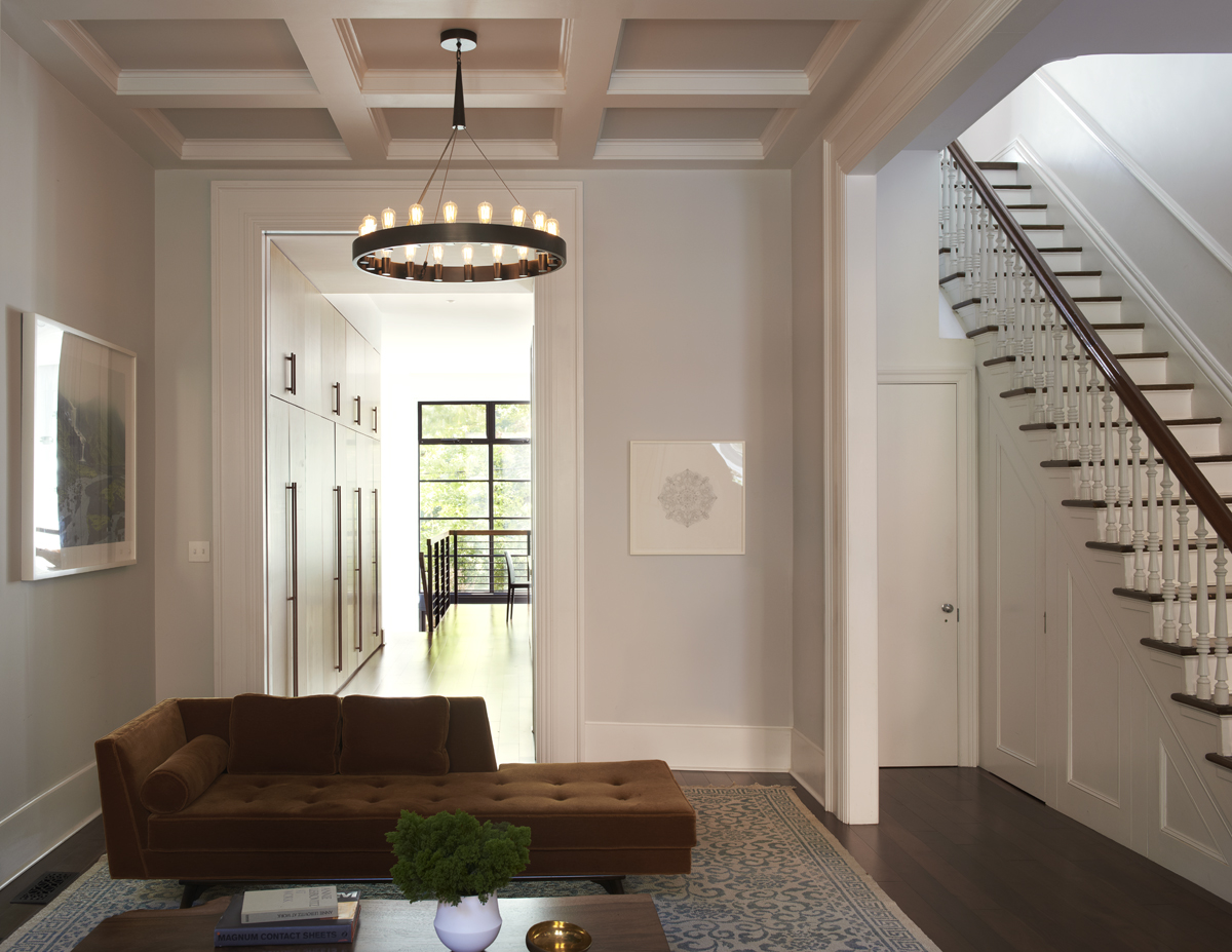 brooklyn heights brownstone coffered ceiling
