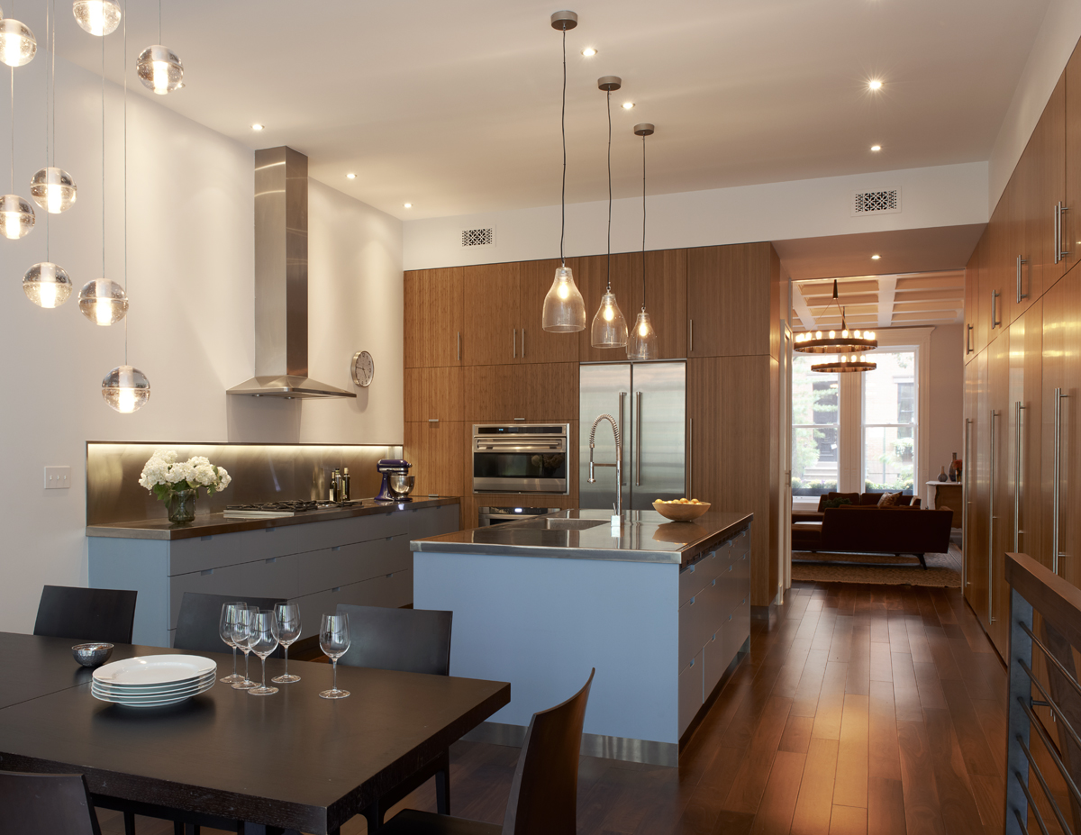 brooklyn heights brownstone dining room and kitchen
