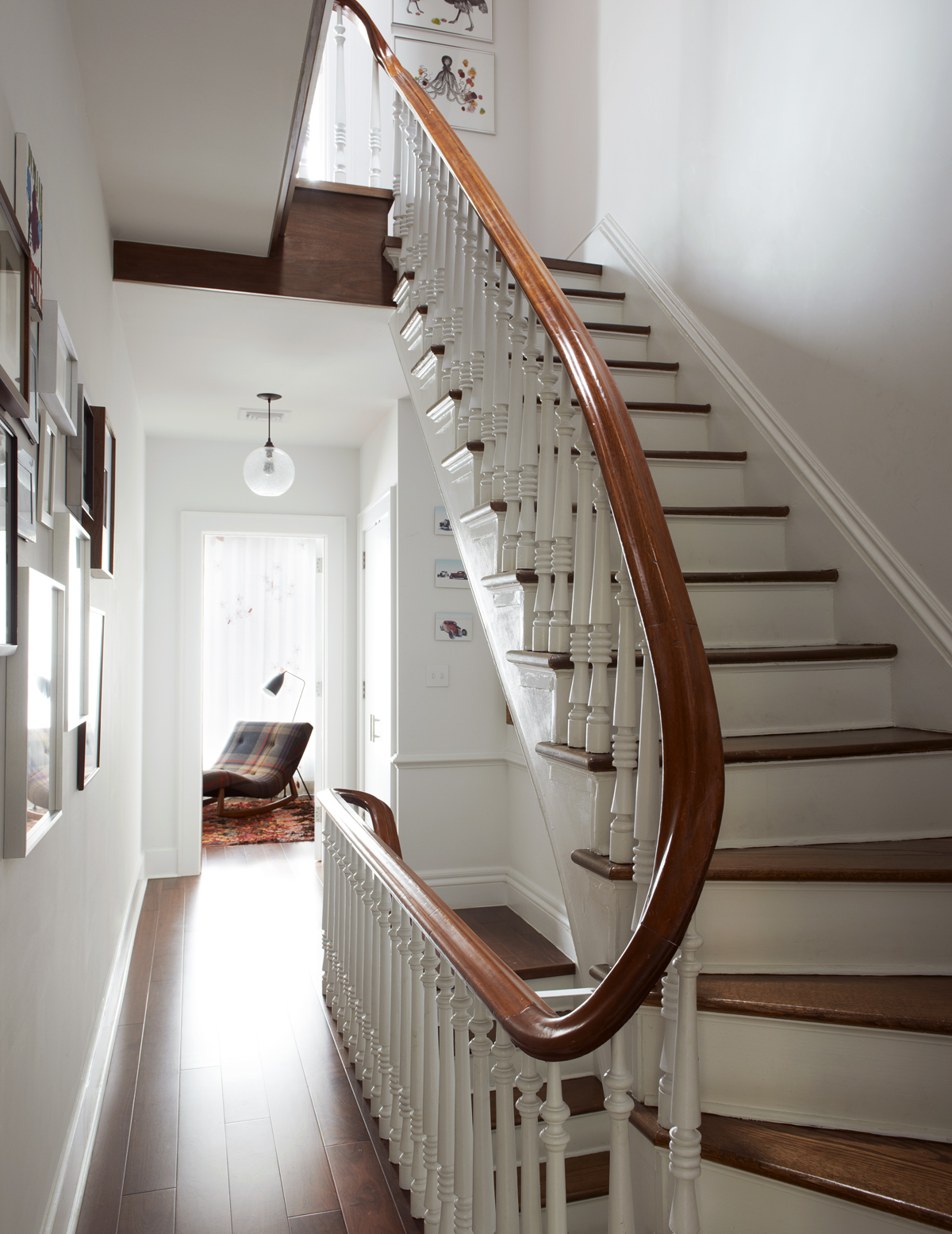 brooklyn heights brownstone refurbished stair