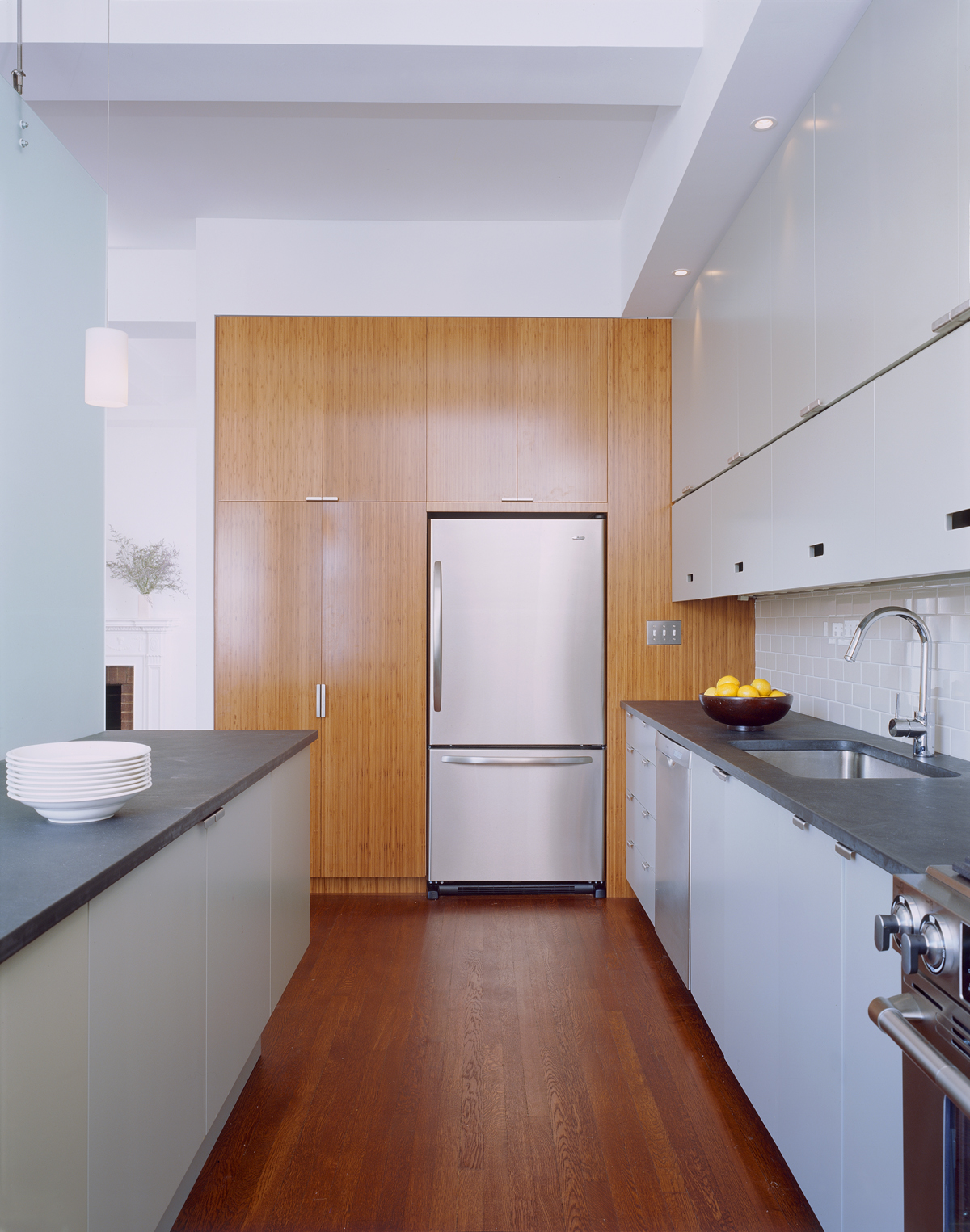 New York architects created bright kitchen