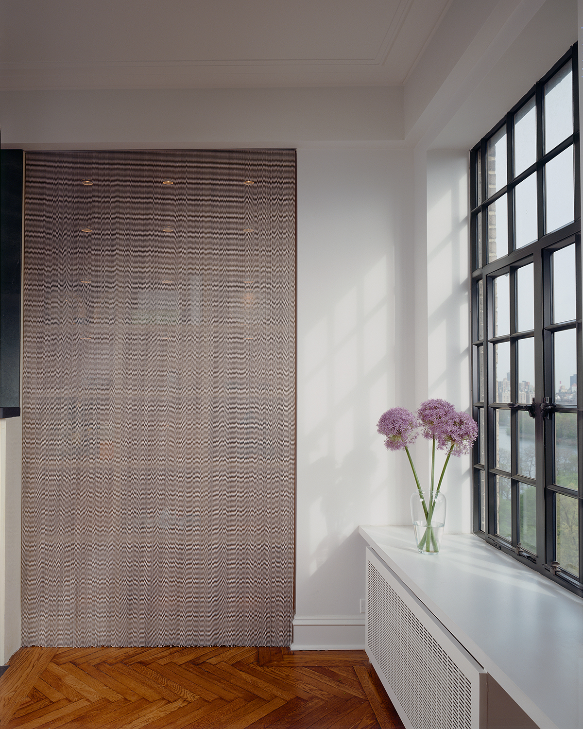 Central Park West apartment's beaded metal curtain