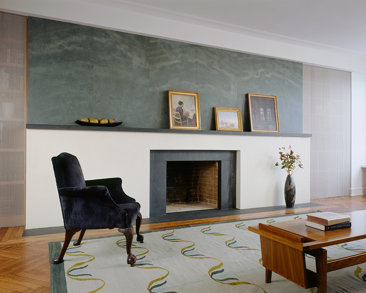 Central Park West apartment's dignity fireplace