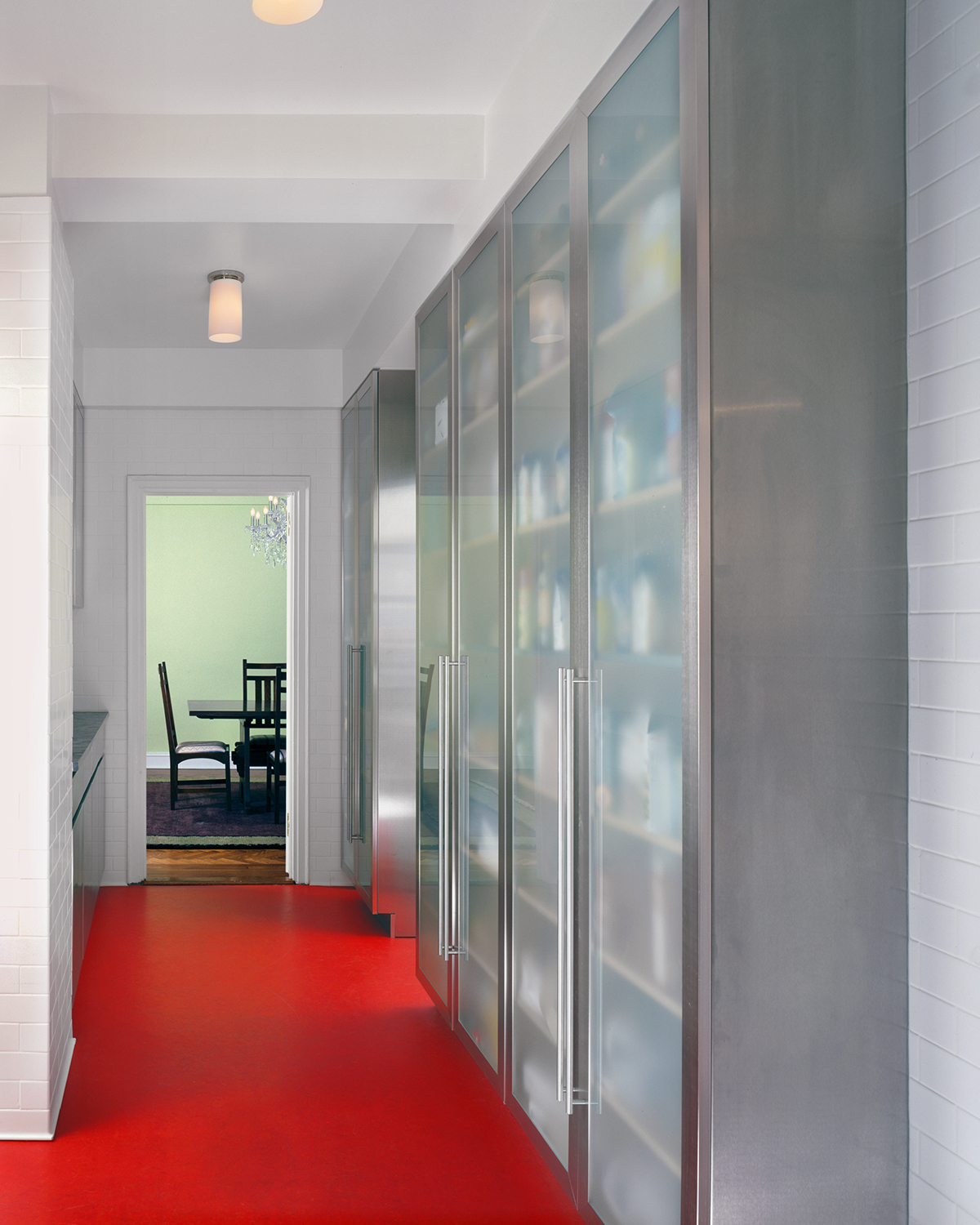 Central Park West apartment's translucent cabinets
