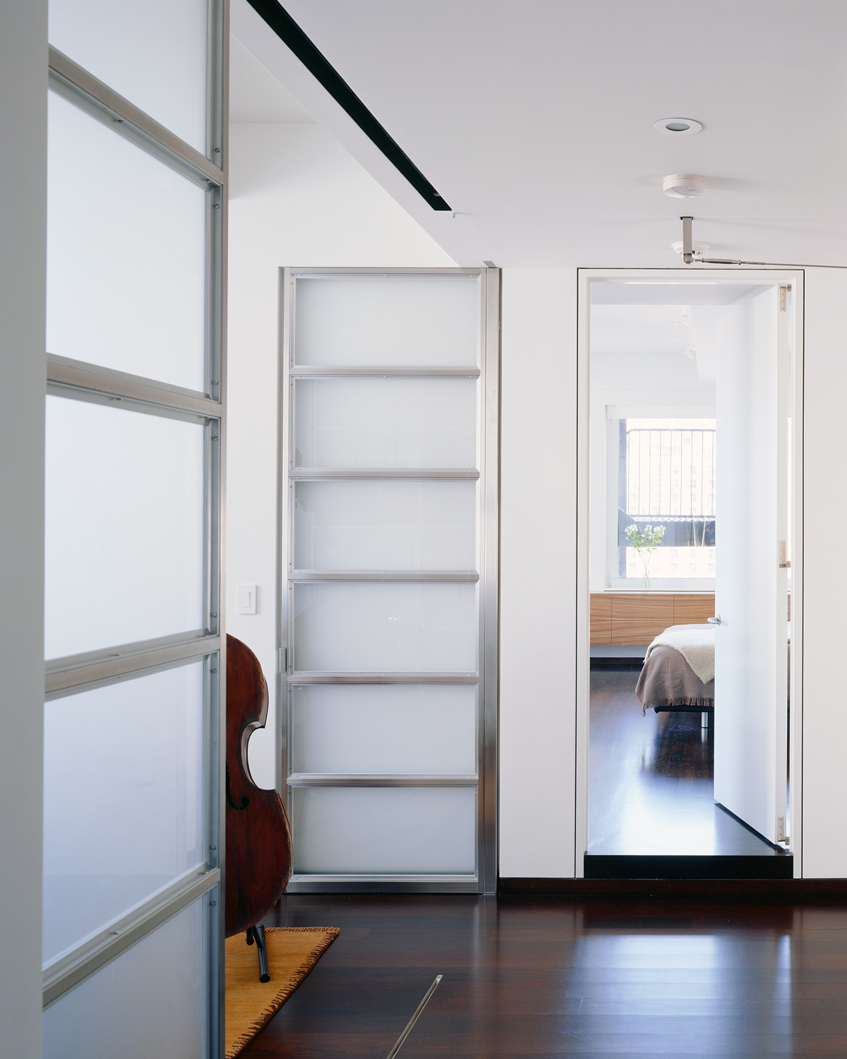 really large loft renovation giant etched glass doors