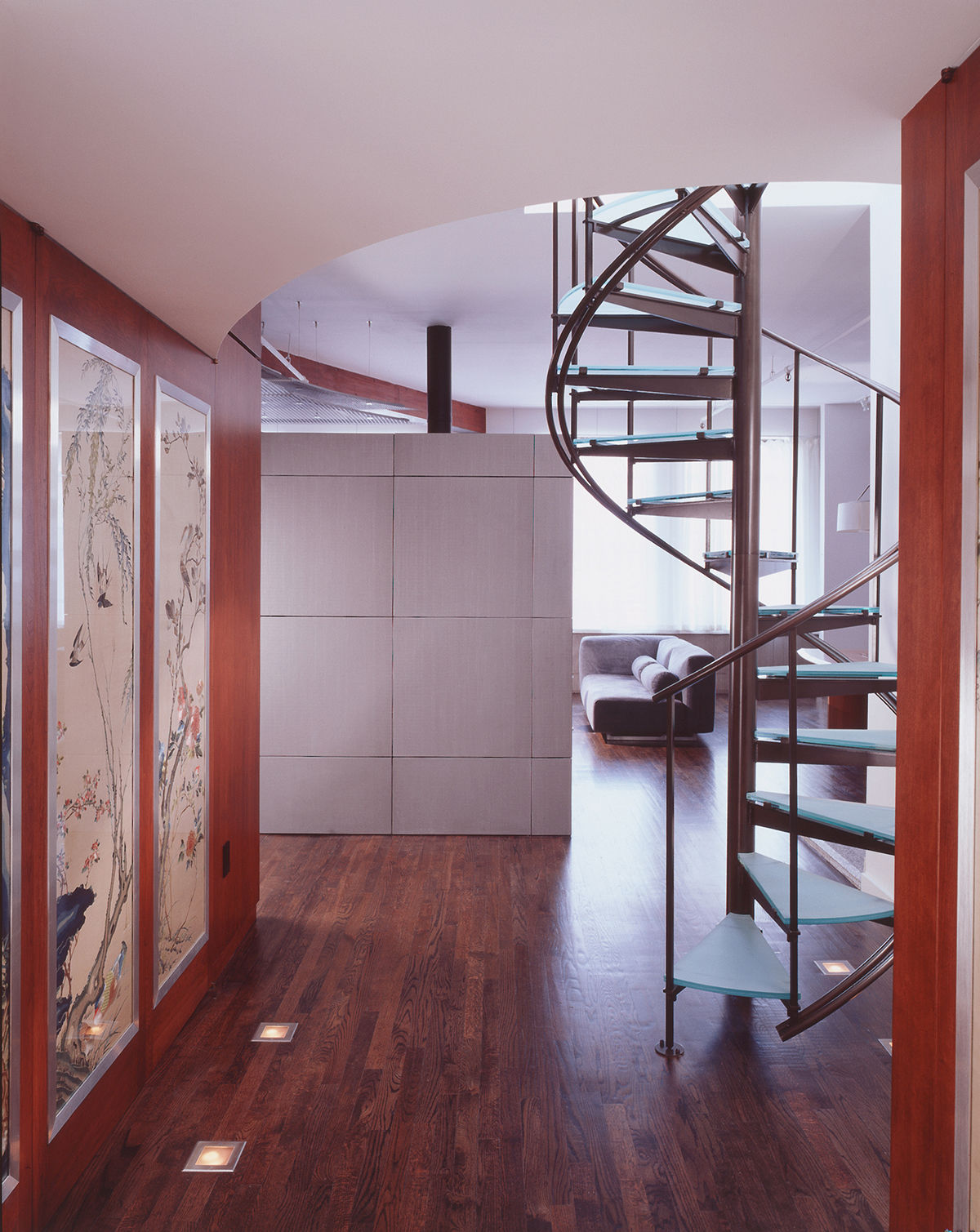 chelsea penthouse glass spiral stair