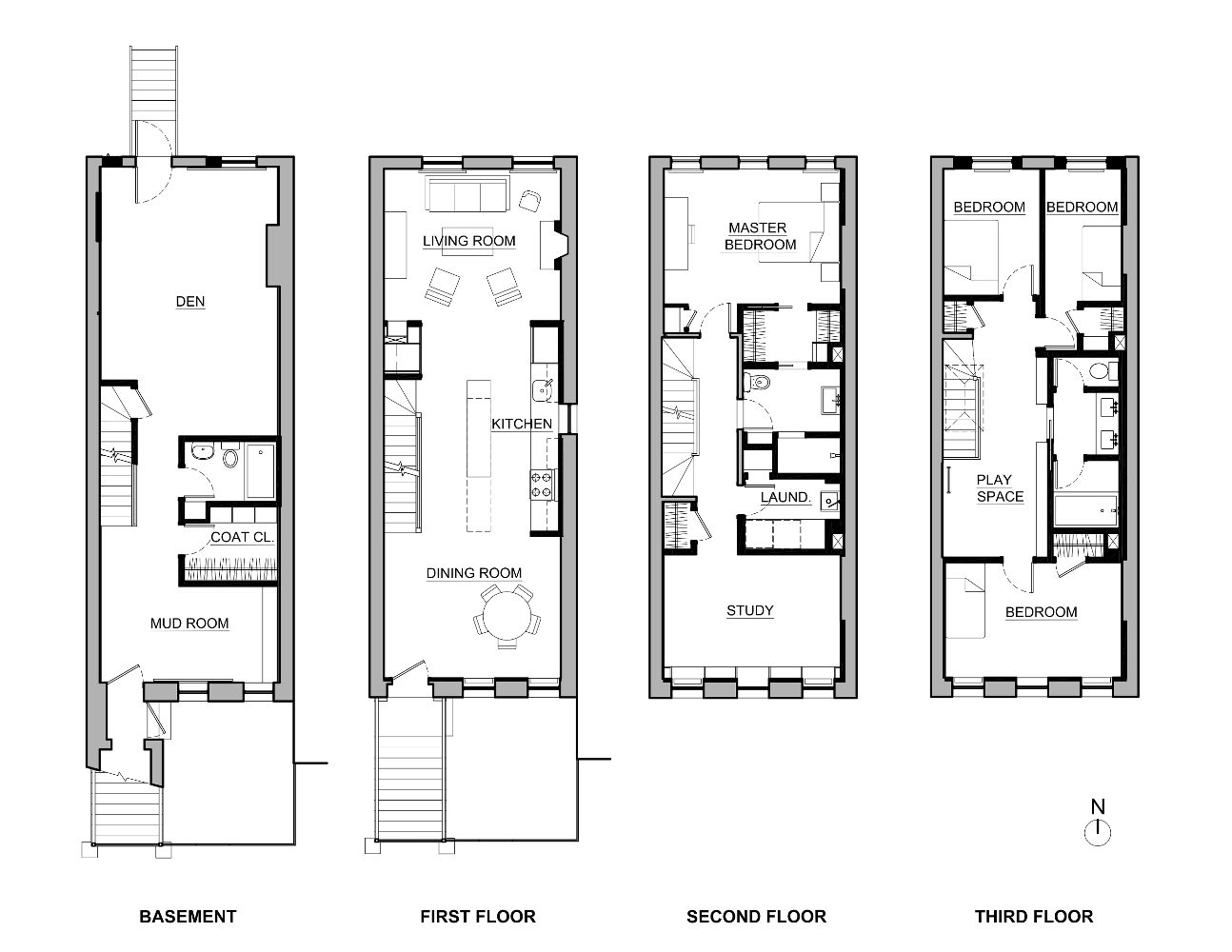 Delson or sherman architects pca brownstone of elegant for Brownstone plans