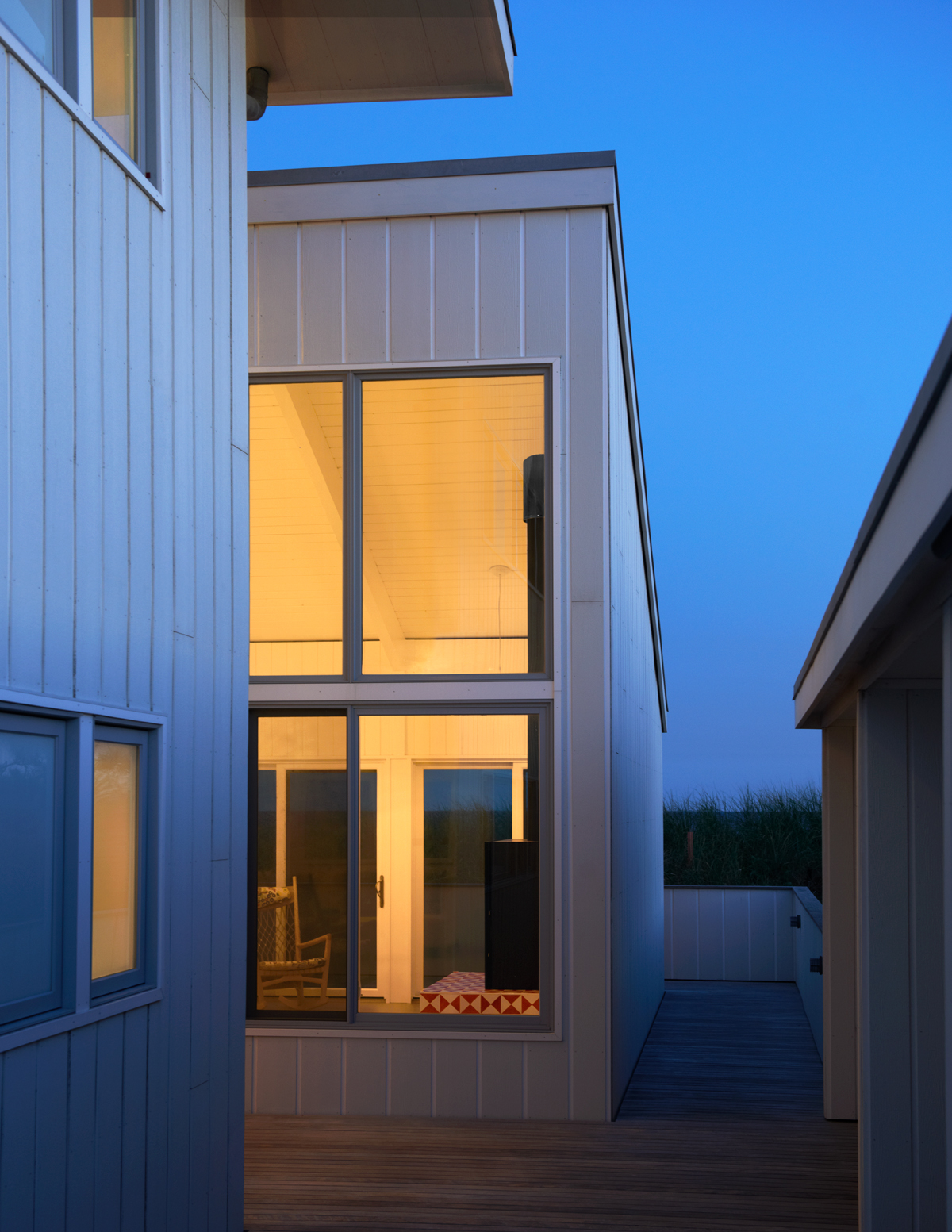 Fire Island beach house -- twilight entry