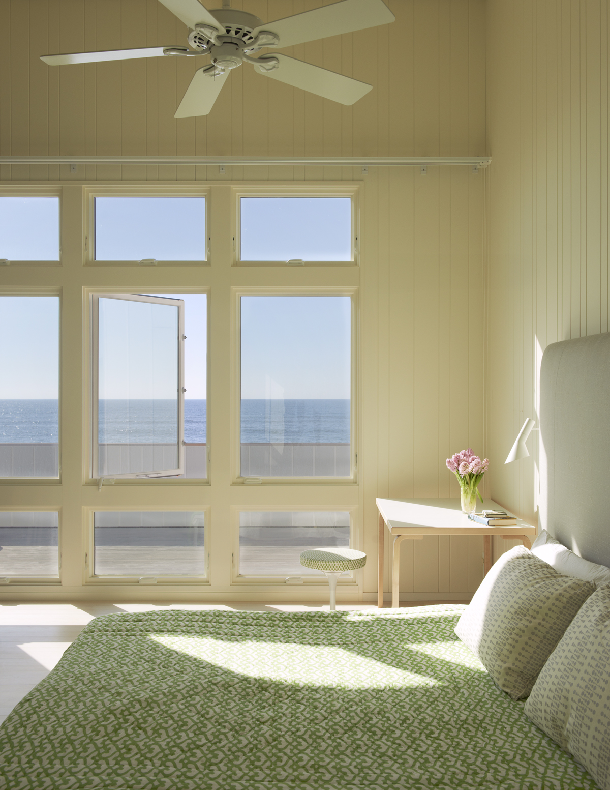 fire island house bedroom with ocean view