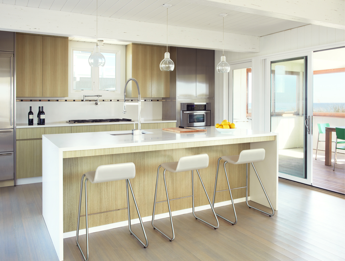 Fire Island beach house -- modern kitchen