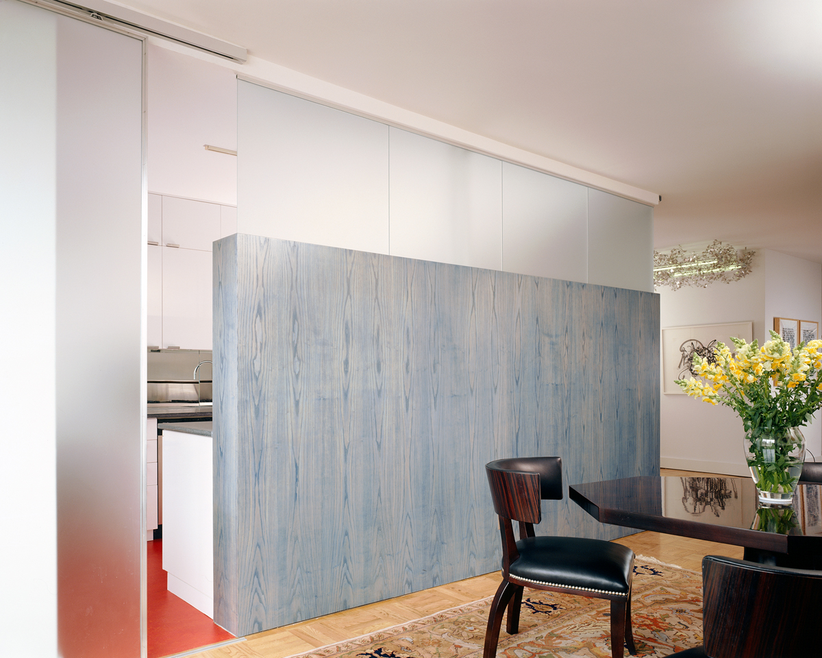greenwich village apartment kitchen dining partition