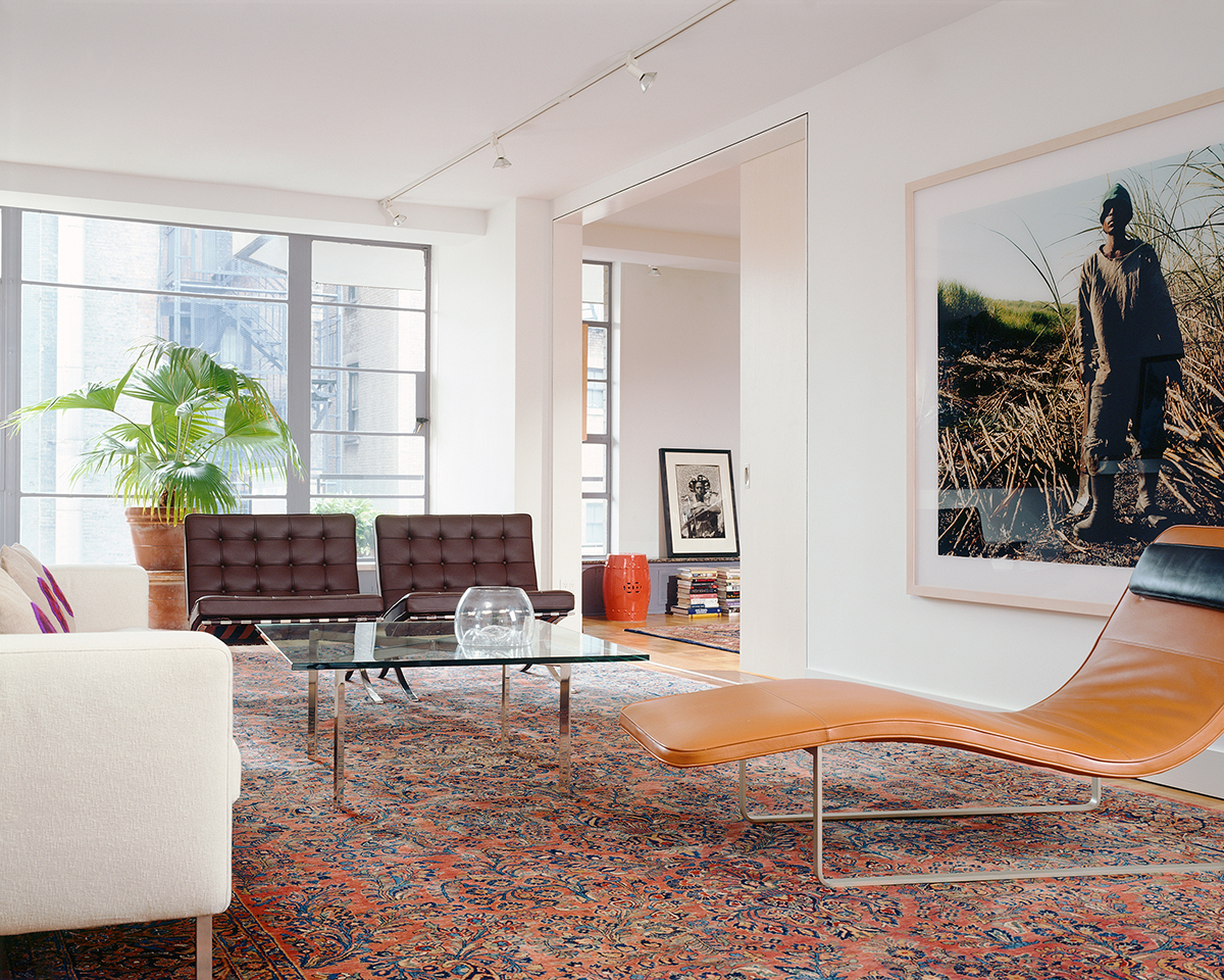 greenwich village apartment gallery and living room