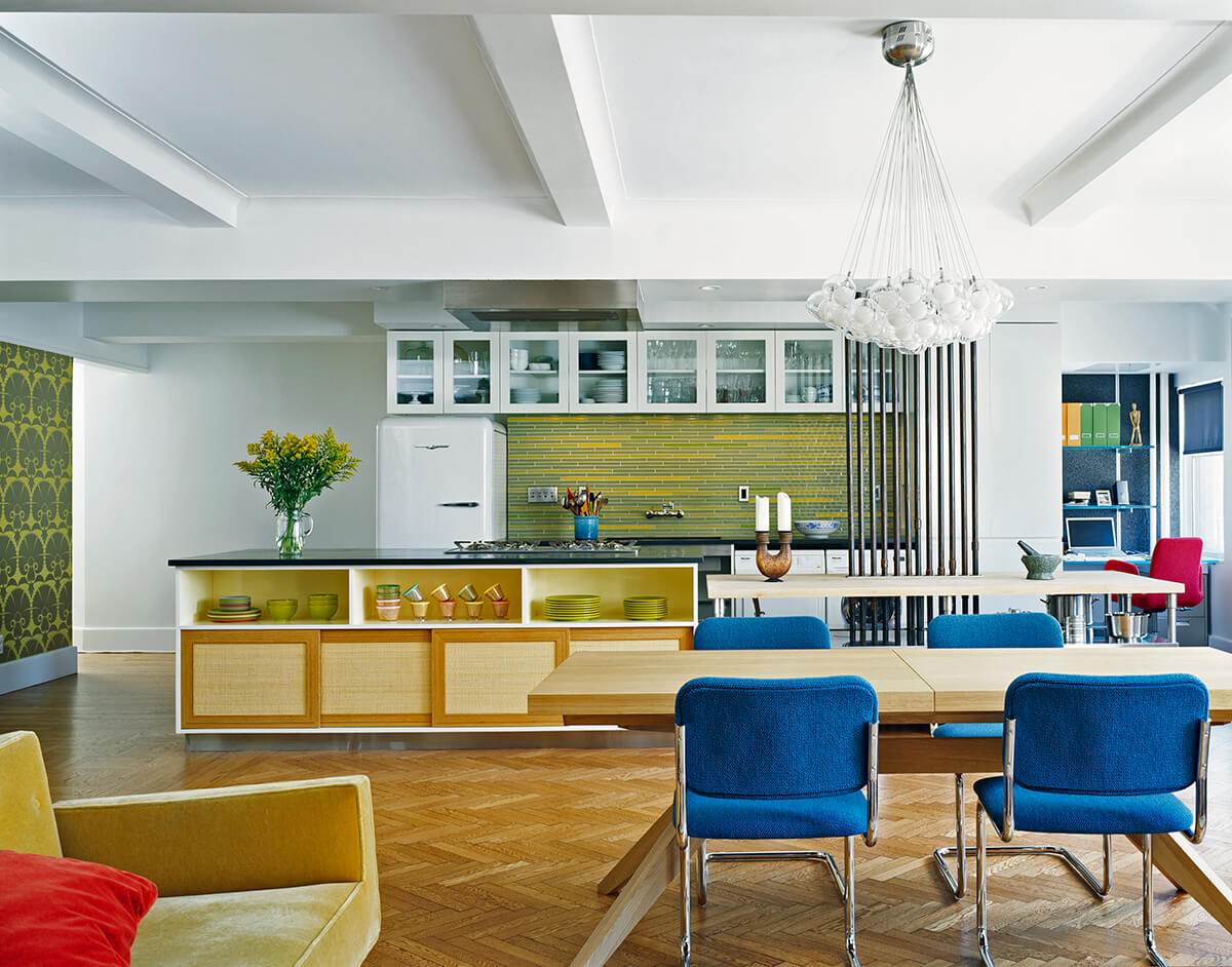 Dining Room and kitchen in Manhattan Valley apartment