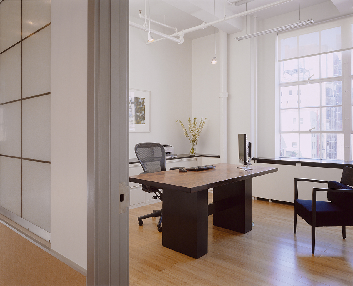 New York office renovation private office