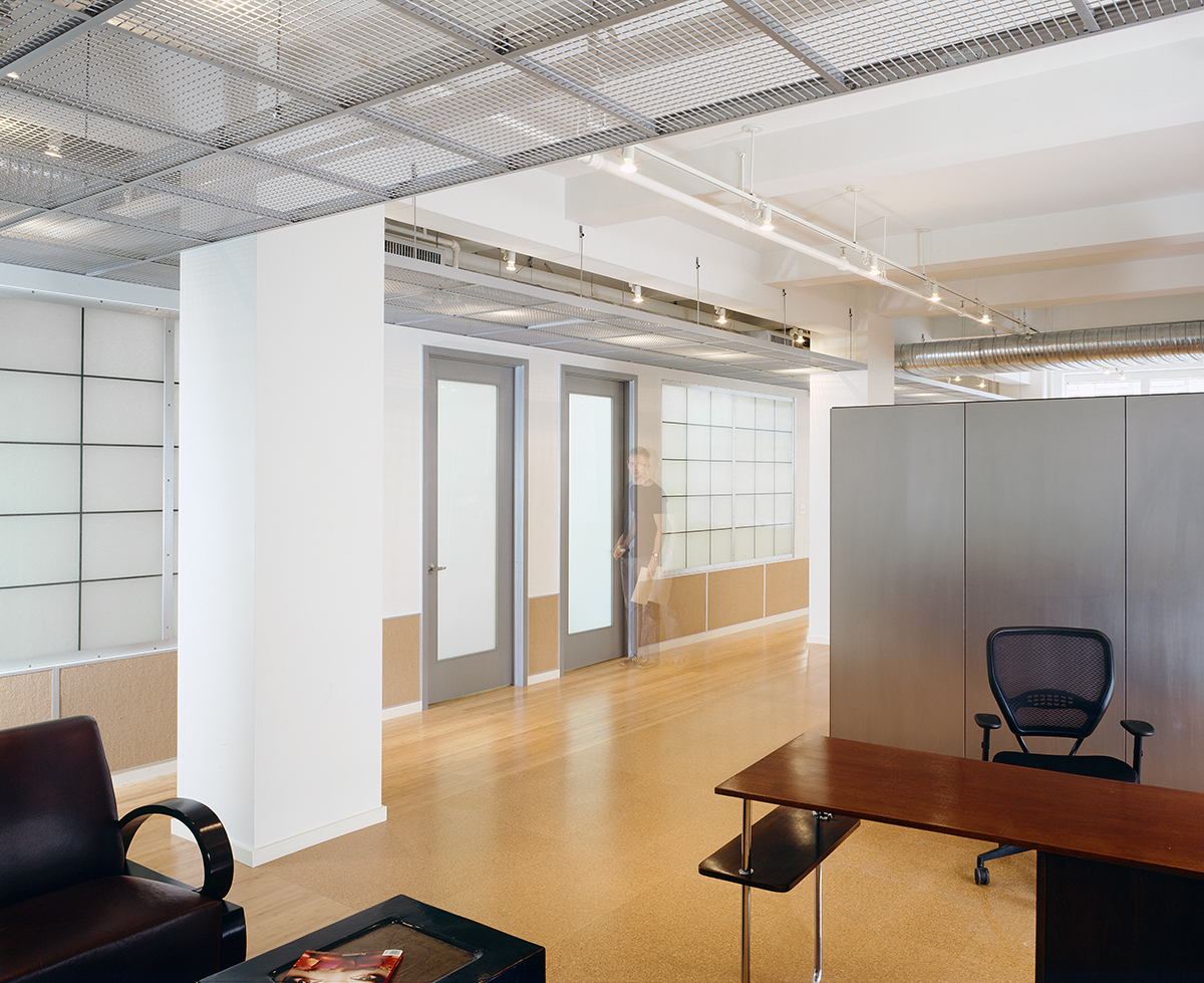 New York office renovation lobby