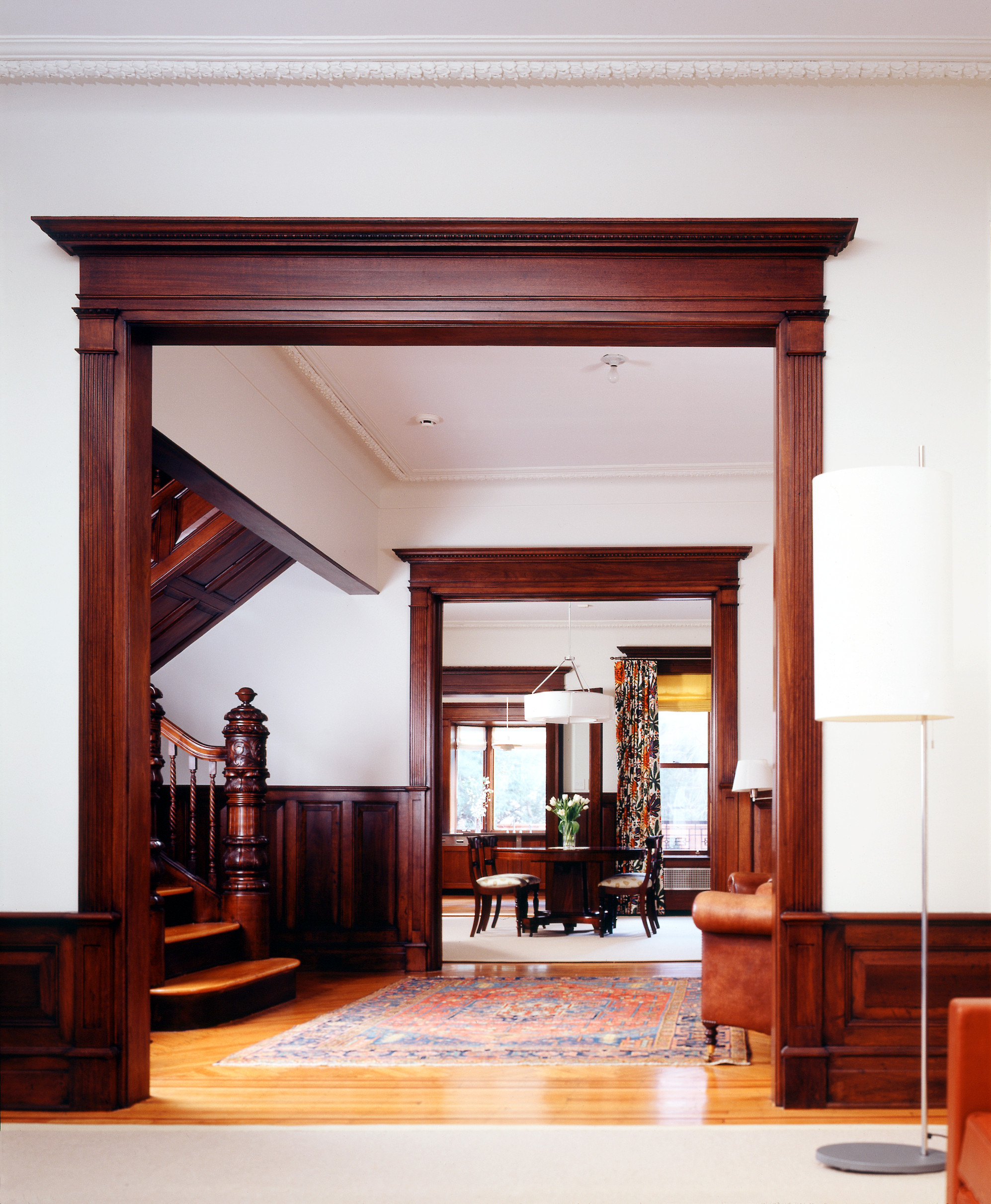 grand limestone house mahogany casings moldings brooklyn park slope architects