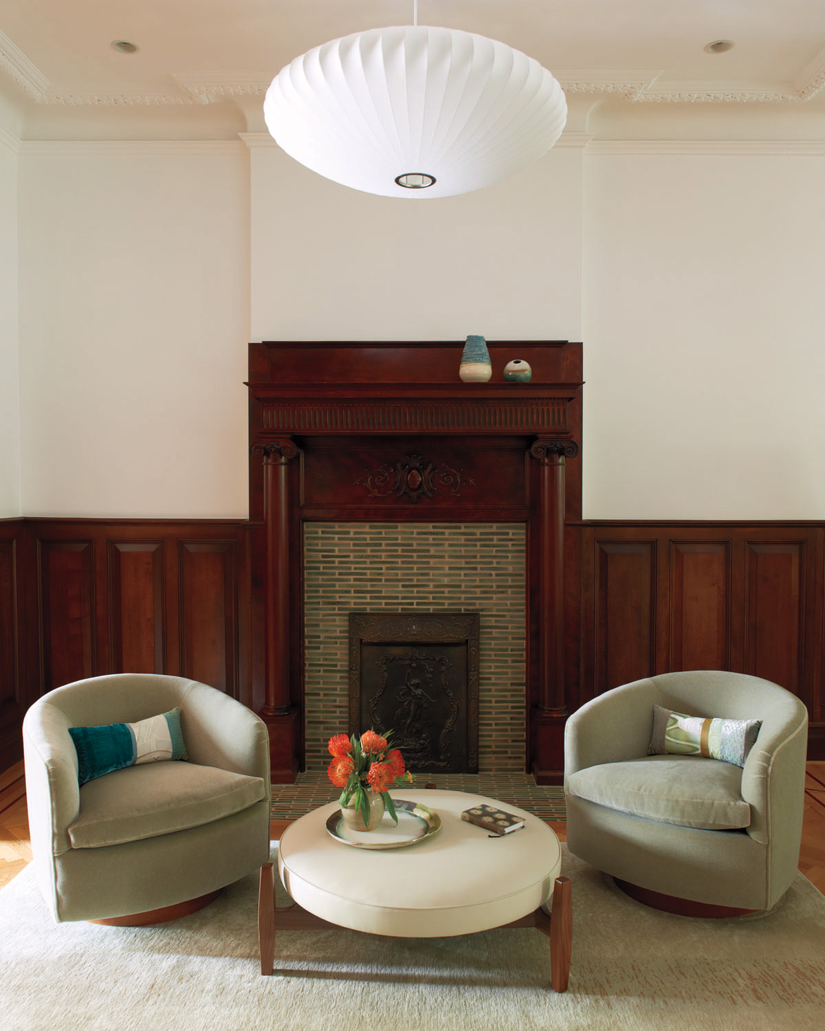 Brooklyn architect carefully restored fireplace