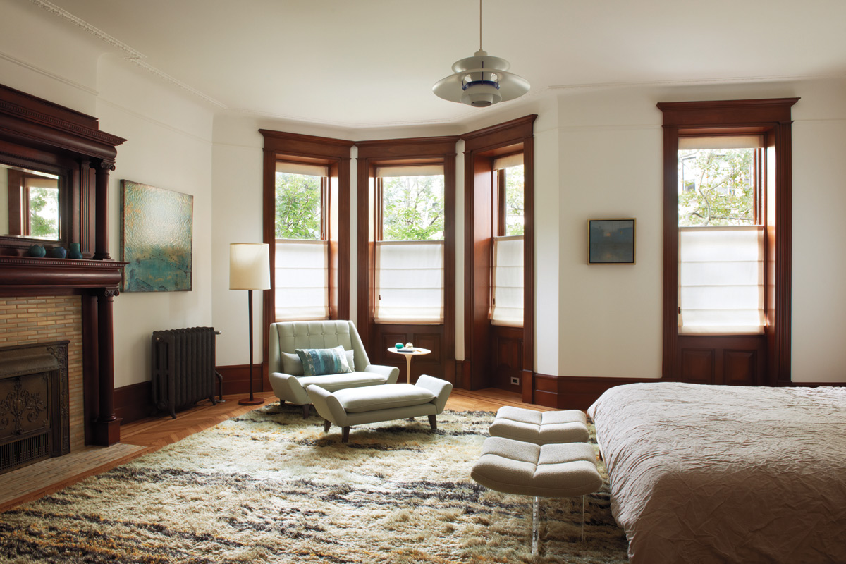 park slope townhouse master bedroom bay window