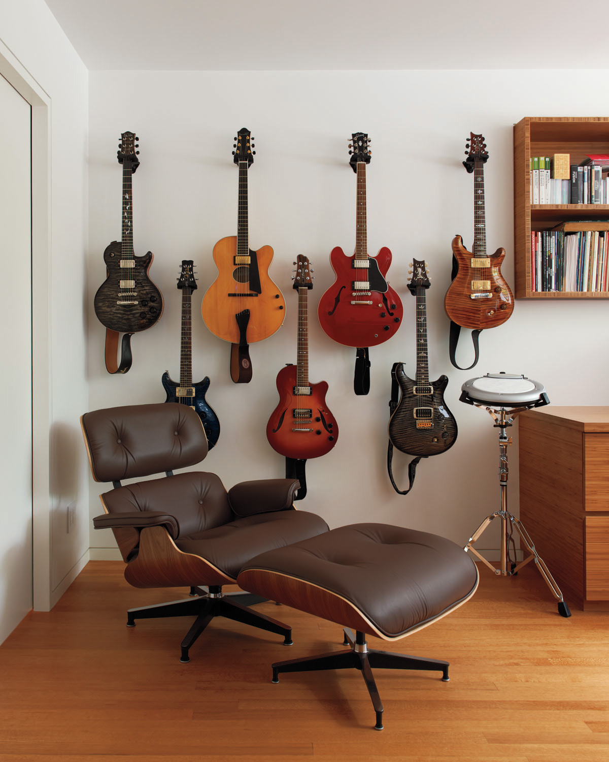 Brooklyn architects carefully restored park slope townhouse music room