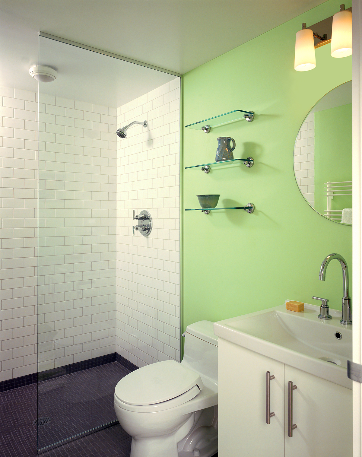 park slope triplex green bathroom