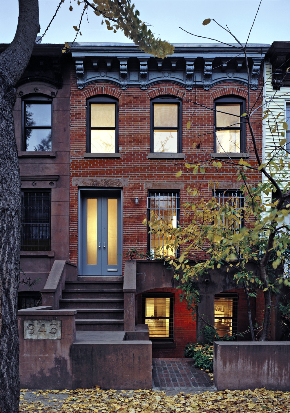 Prospect Heights row house front facade