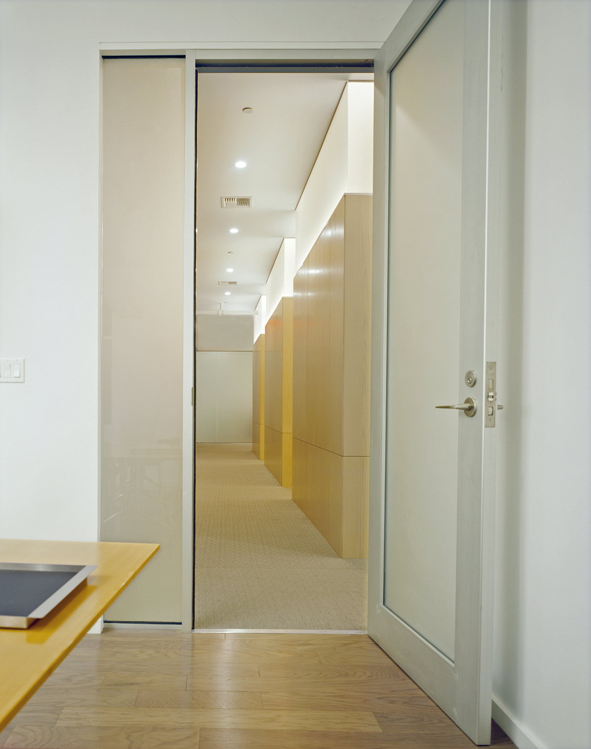 ash cubes with LED lighting for soho offices