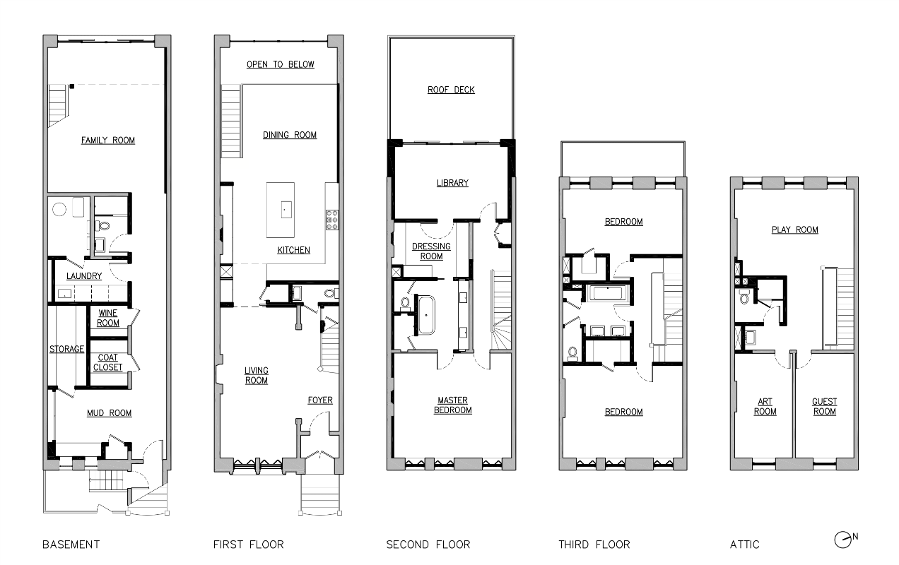 Delson or sherman architects pclarge brownstone addition for Brownstone plans