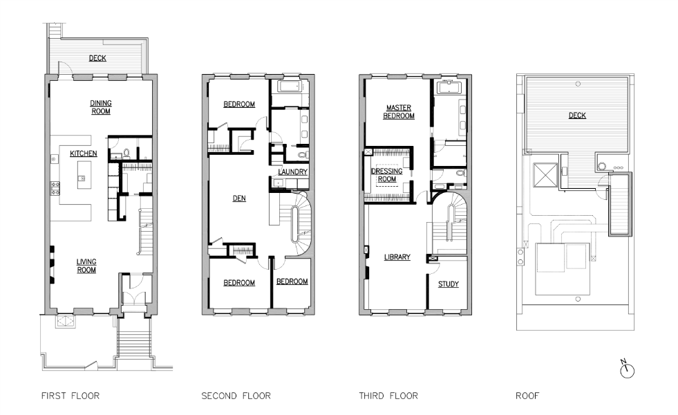 carroll gardens townhouse floor plans brooklyn architects