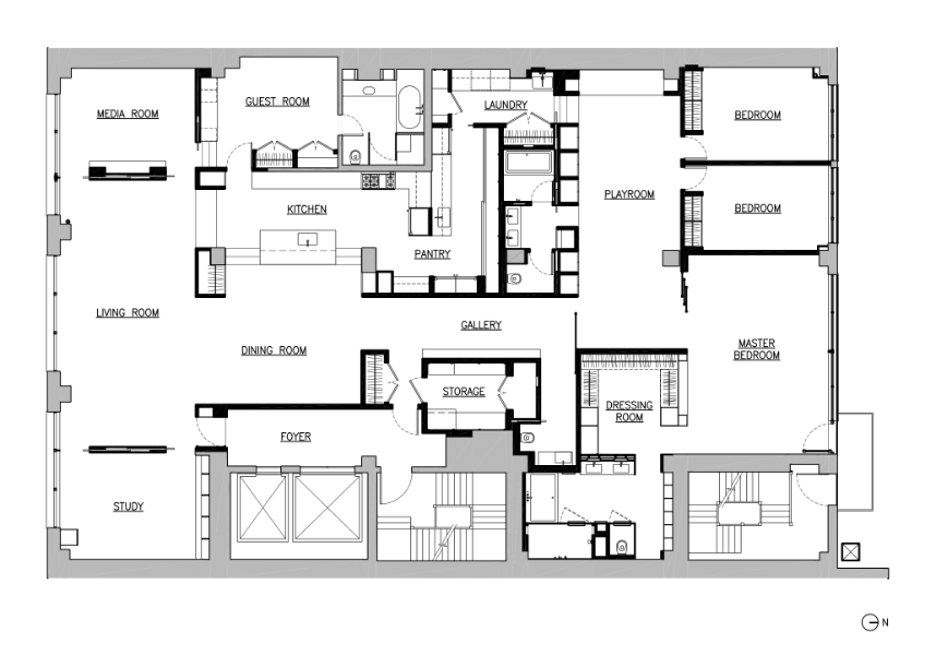 combining chelsea lofts - floor plan