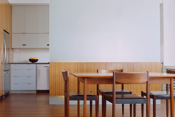New York architects created a big sunny living room by removing walls
