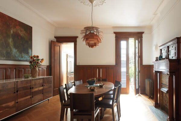 park slope townhouse dining room