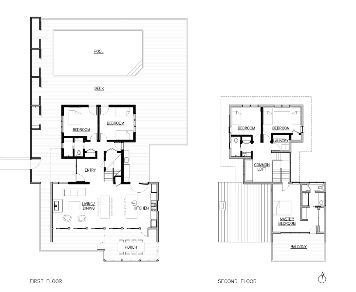floor plans Fire Island beach house