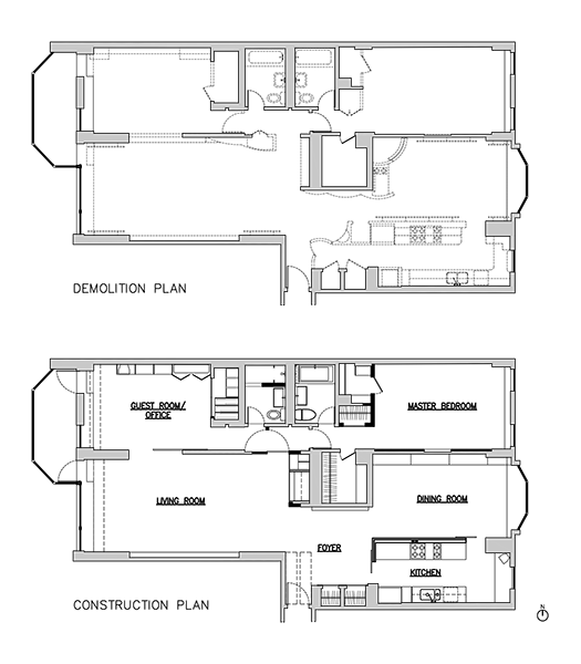 Greenwich Village apartment floor plan