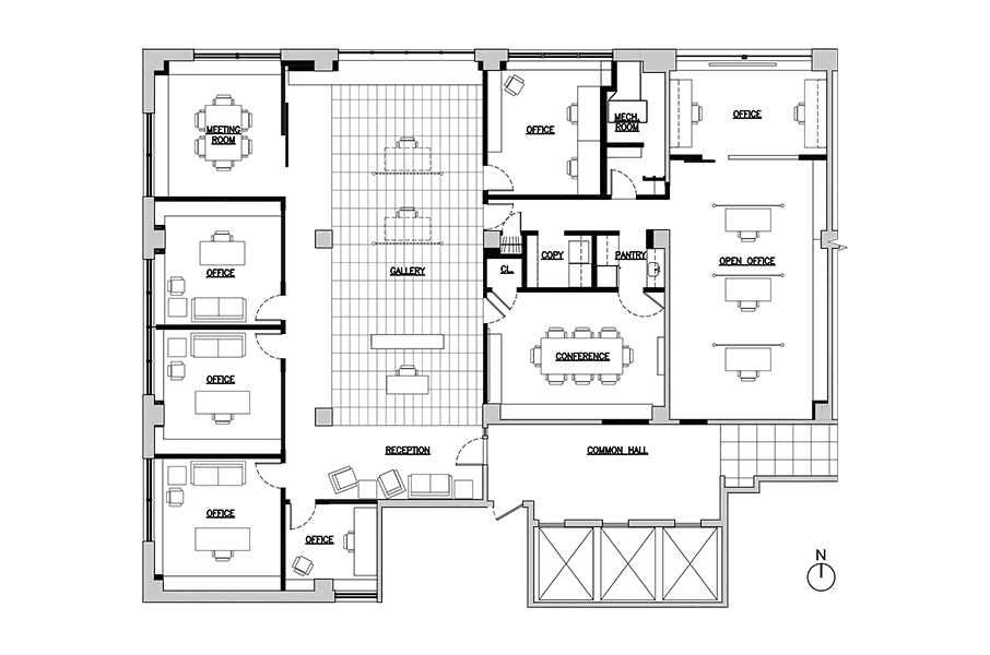 New York office renovation floor plan