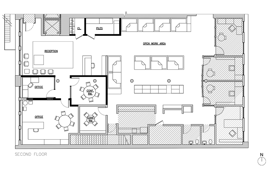 Soho offices second-floor plan