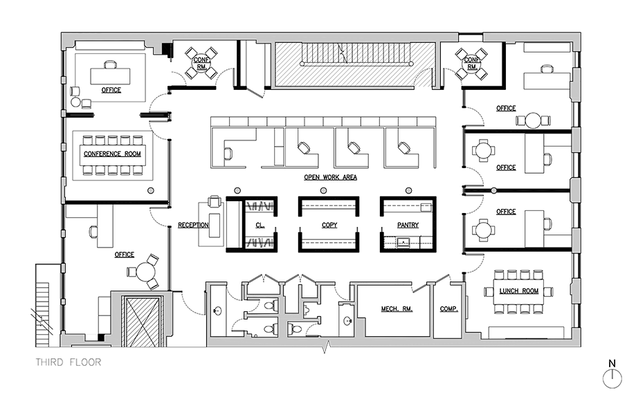Soho offices third-floor plan