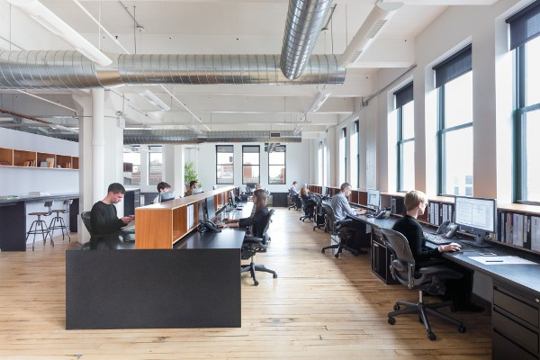 The Brooklyn offices of Delson or Sherman Architects.