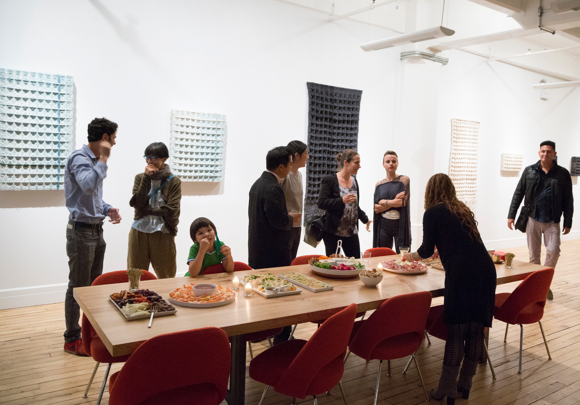 gallery night at Delson or Sherman Architects' Brooklyn offices