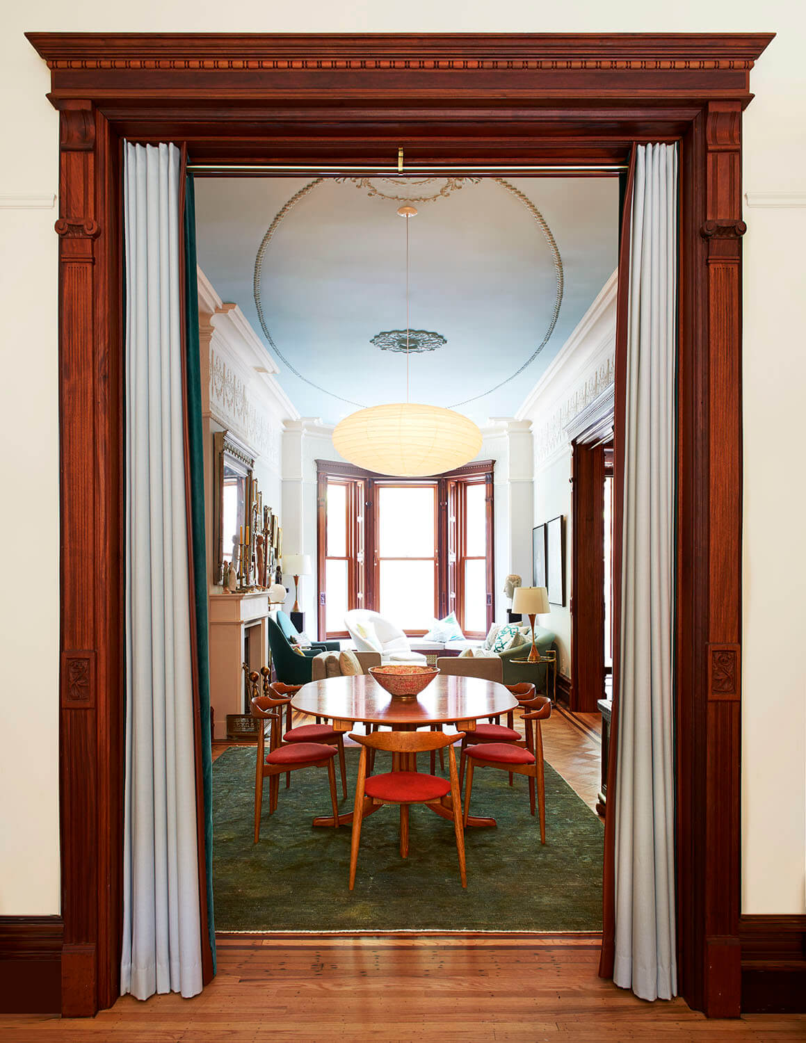 architects' restoration of this stately brownstone
