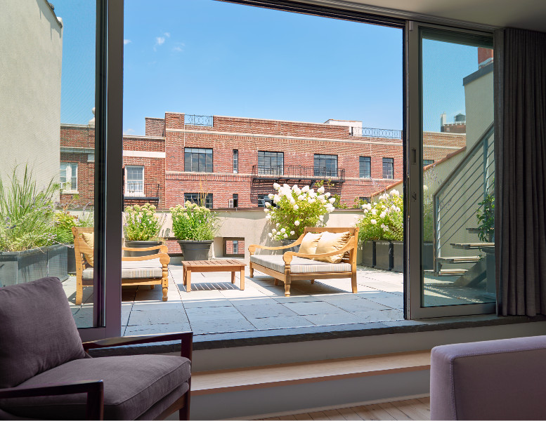 Stately Brownstone Renovation Roof Deck