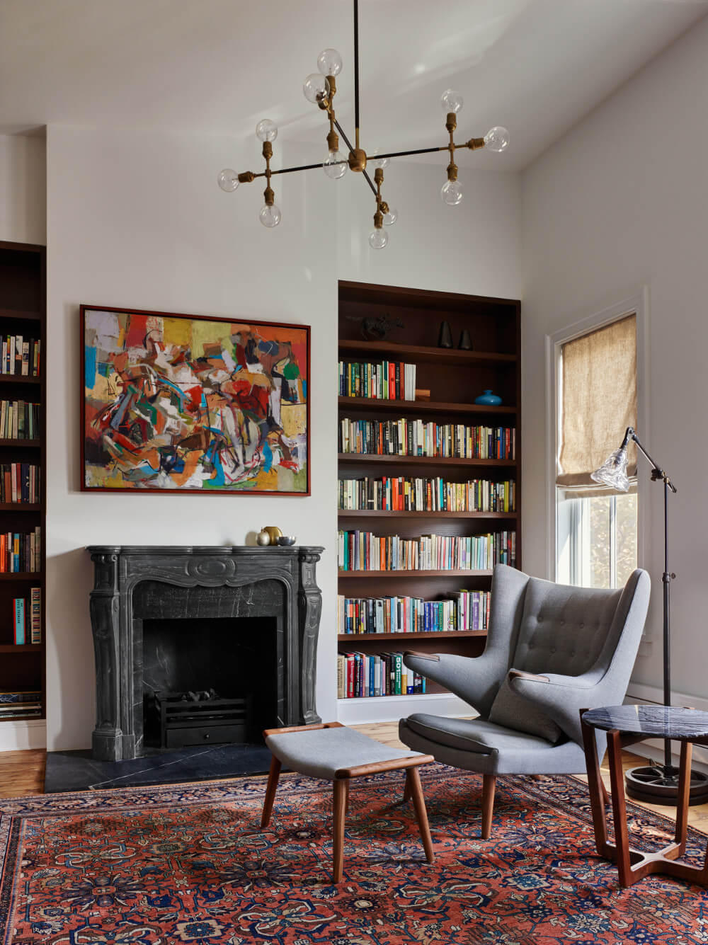 Brooklyn row house library