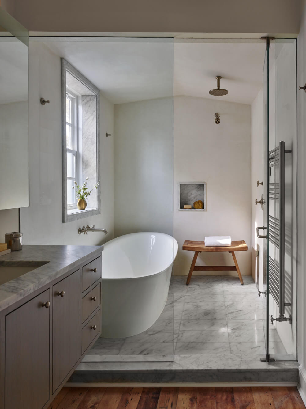 Brooklyn row house master bath