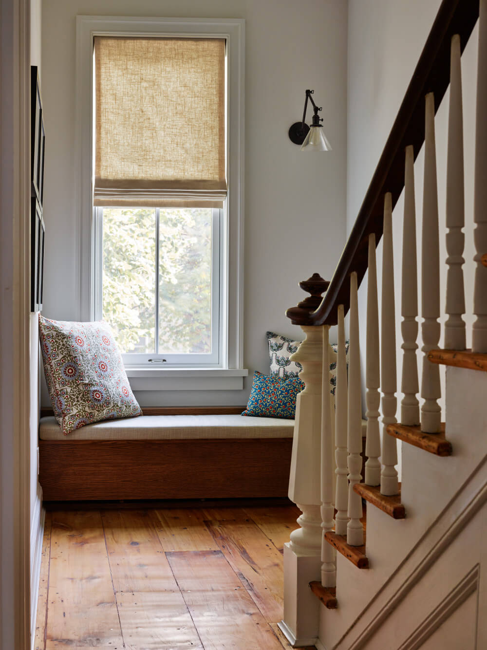 Brooklyn row house stair