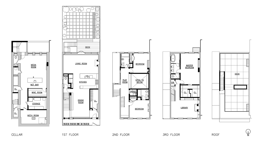 Brooklyn row house plans